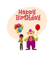 black african american boy holding balloons vector image vector image
