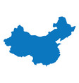 blank blue similar china map isolated on white bac vector image