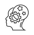 born idea line icon concept sign outline vector image vector image