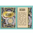 Bright elegant design for wedding invitations vector image vector image