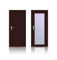 brown wooden doors interior designs vector image vector image