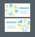 business finance banner set vector image vector image
