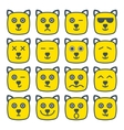 cat emotional emoji square yellow faces icon vector image vector image
