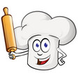 chef cartoon with rollin pin cartoon vector image vector image