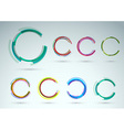 Collection of rings for advertising vector image vector image