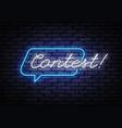 contest neon sign design template retro vector image