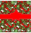creeting card with christmas decoration vector image vector image
