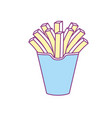 delicious fries french fast food meal vector image vector image