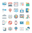 Digital Marketing Icons 5 vector image vector image