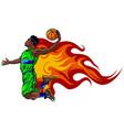 digital painting a basketball vector image vector image