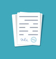 document sign approve paper license vector image