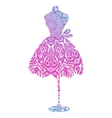 dummy with a female dress vector image vector image
