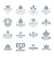 eco leaf logo icons set simple style vector image