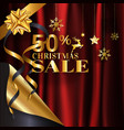 elegance gold christmas sale 50 banner design on vector image vector image