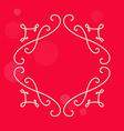 Elegant vintage border for monograms Decorative vector image vector image