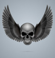Evil skull with wings vector image vector image