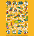 farmers market maze game vector image