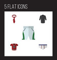 flat icon dress set of underclothes uniform vector image vector image