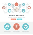 Flat line Business Concept Web Site Header vector image vector image
