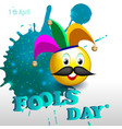 fools day 1 vector image