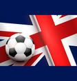 football ball and british flag vector image vector image