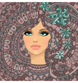 girl texture with abstract flowers vector image vector image