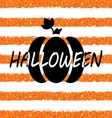 glitter orange wallpaper for happy halloween vector image