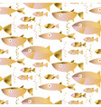 gold fish seamless pattern in pastel color vector image vector image