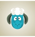 Head of the cute cartoon smiling sheep vector image