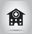 hospital building icon infirmary medical clinic vector image vector image