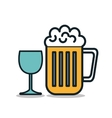 icon beer cold drink design vector image