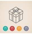 isometric gift box icons vector image vector image