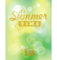 It summer time vector image vector image