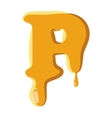 Letter P from honey icon vector image