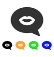 lips smiley message icon vector image vector image