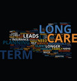 long term care the who the what and the how text vector image vector image