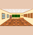 modern empthy classroom background vector image