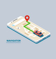 modern isometric navigation vector image vector image