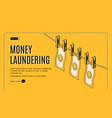 money laundering isometric web banner vector image vector image