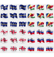 Nauru Seychelles Georgia Russia Set of 36 flags of vector image vector image