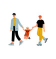 non traditional male homosexual family couple and vector image vector image
