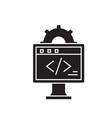 online development black concept icon vector image vector image