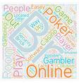 online poker rooms text background wordcloud vector image vector image