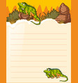 paper template with two lizards vector image vector image