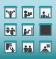 people activities design vector image