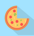 pizza icon set of great flat icons design vector image vector image