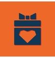 present heart icon vector image