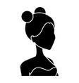 profile happy smiling bride woman character vector image