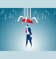 protection businessman red umbrella the prevent vector image vector image