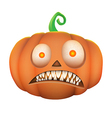 Pumpkin scary on white background vector image vector image